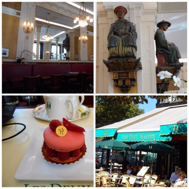 Lunching at Les Deux Magots
