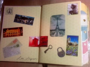 Inside  cover of my Paris journal