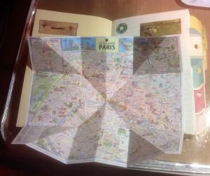 Paris map in my Paris journal